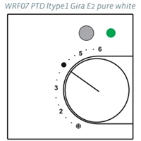 Панели управления WRF07 PTD AO2V ltype1  LED green, Thermokon. Артикул 628167